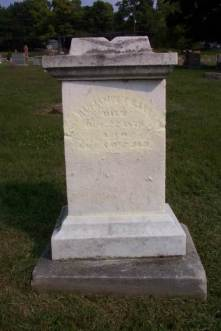 Grave stone Anderson Indiana